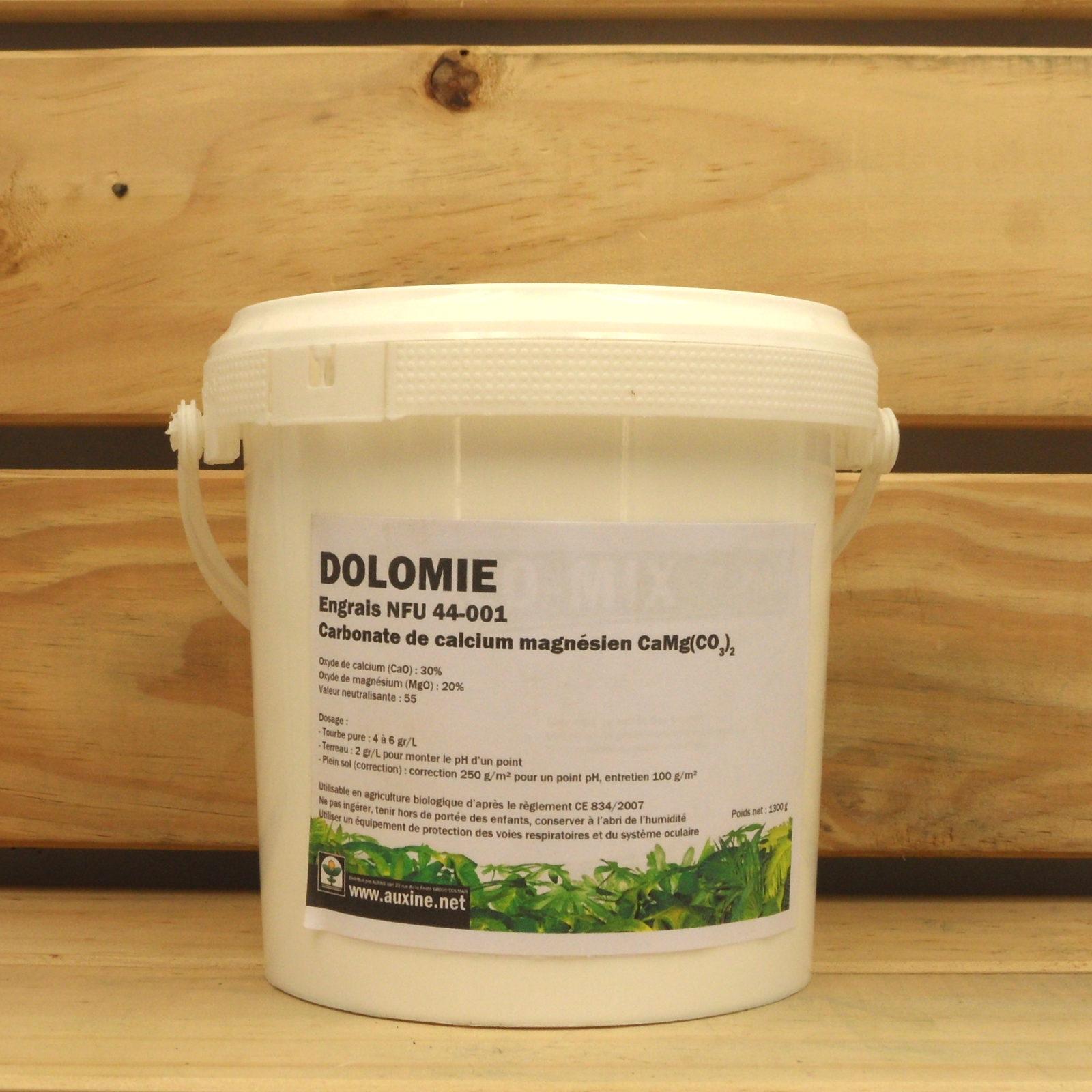 engrais organique auxine dolomie 1300g boutique auxine jardinerie alternative. Black Bedroom Furniture Sets. Home Design Ideas