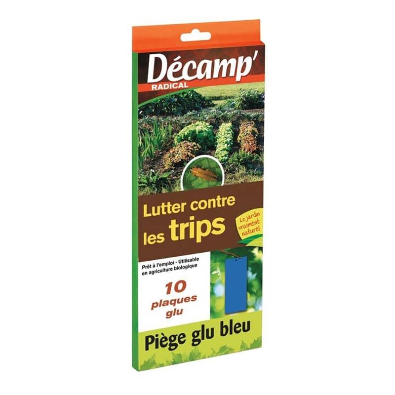 decamp piege collant bleu englue bleu contre les thrips luute biologique