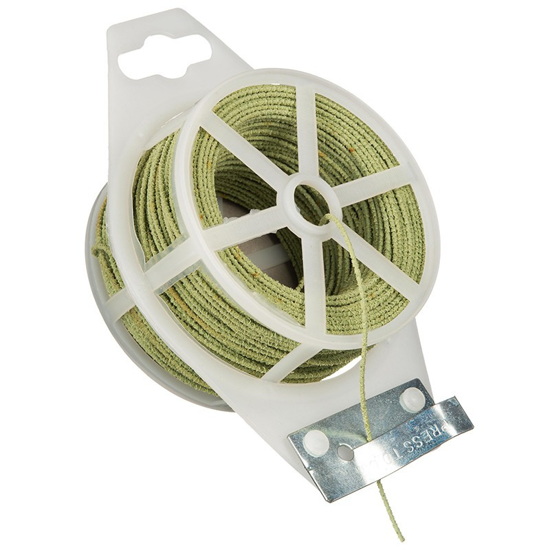 fil de maintient horticole metallique en plastique rugueux m