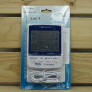 Mesure Température Humidité Horloge Winflex - CTH-608A THERMOMÈTRE HYGROMÈTRE DIGITAL AVEC SONDE 2m