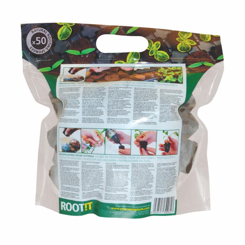 propagation vegetale rootit 50x eponges de bouturage germination 3