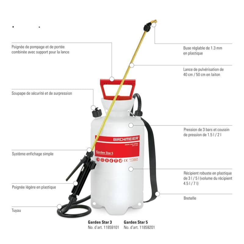 pulverisateur garden star birchmeier a pression prealable L