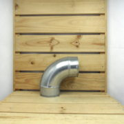 Raccord Aéraulique - Dérivation en L de ventilation Coude 100mm