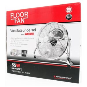 ventilateur sol metal floor fan cm w advanced star ff ac auxine jardinerie alternative colmar