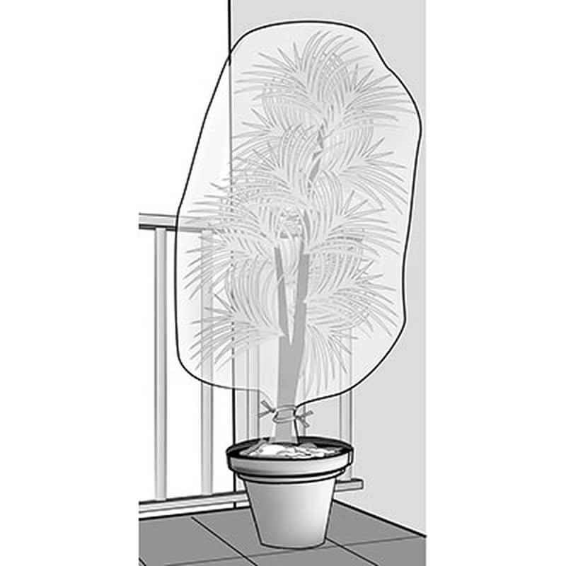 voile de protection pour plantes en pot